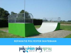 polyester reparatie skatebaan