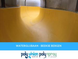 reparatie polyester waterglijbaan