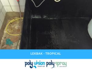reparatie polyester lekbak zwavelzuur, chemicaliën