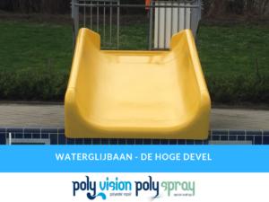 polyester gelcoat reparatie en coaten waterglijbaan