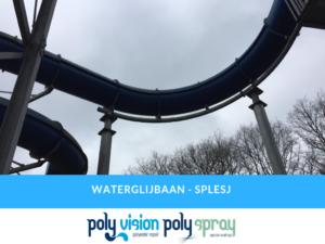 reparatie gat polyester waterglijbaan