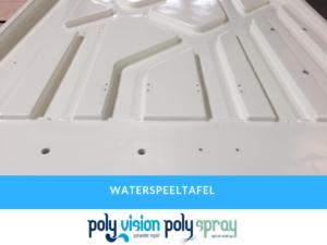 versteviging polyester en aanbrenging coating waterspeeltafel