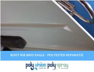 boot reparatie, polyester boot repareren