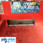 polyester reparatie en aanpassen waterglijbaan